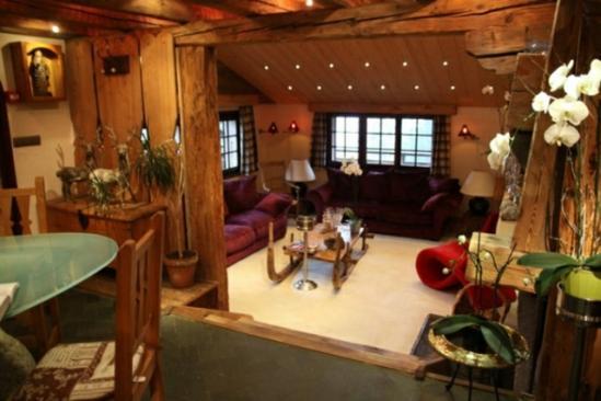Idee mobilier rustique salon design chalet moderne