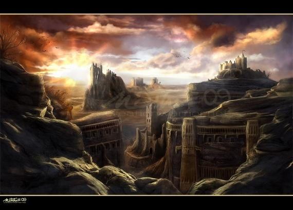 Paysages fantastiques ville roche img